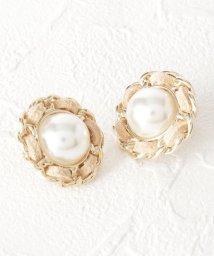 Couture Brooch/パール調フラワーピアス/503428744