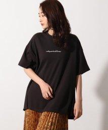 OZOC/[洗える]刺繍ロゴ オーバーサイズTシャツ/503412888