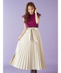 MIIA/レザープリーツスカート/503427135