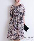 Sawa a la mode/クラシカルな花模様のフレアワンピース/503428347