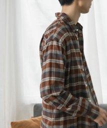 URBAN RESEARCH DOORS/【予約】FORK&SPOON ネルチェックレギュラーカラーシャツ/503429810