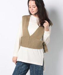 petit main LIEN/ニットビスチェ×サイドスリットTシャツセット/503416763