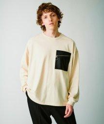 tk.TAKEO KIKUCHI/シンセティックレザーポケットTシャツ(長袖)/503431459