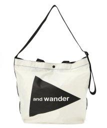 BEAVER/and wander/アンドワンダー CORDURA big logo tote bag large コーデュラビッグロゴトートバッグラージ /503431463