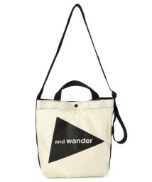 BEAVER/and wander/アンドワンダー CORDURA big logo tote bag medium コーデュラビッグロゴトートバッグミディアム/503431464