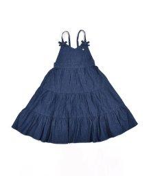 SLAP SLIP/デニム リボン 無地 ティアード ジャンパースカート (90cm~130cm)/503431510