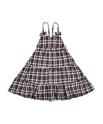 SLAP SLIP/チェック リボン ティアード ジャンパースカート (90cm~130cm)/503431511