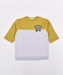 SLAP SLIP/バイカラー ワッペン 7分 ワッフル Tシャツ (80cm~150cm)/503431531