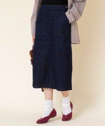 coen/デニムセミタイトスカート(デニムスカート)/503435737
