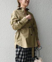 SHIPS any WOMENS/SHIPS any:バフピーチ フラップシャツジャケット/503436521