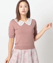 MISCH MASCH/カットワーク刺しゅう衿ニット/503411019