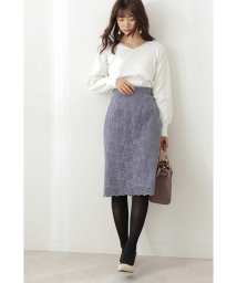 PROPORTION BODY DRESSING/フロッキーレースタイトスカート/503424163