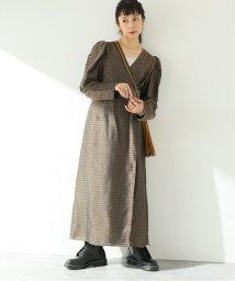 JOURNAL STANDARD/【QUWAGI/クワギ】PUFF SLEEVE CROSSOVER DRESS:ワンピース/503449112