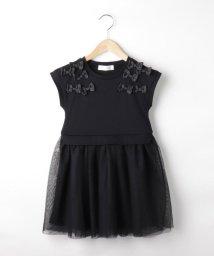 Couture Brooch/【WEB限定KIDS/100-120cm】リボンチュールドッキングワンピース/503449506