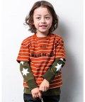 WASK/半袖 ボーダー + 長袖 星  ロング  コットン Tシャツ セット(140cm/503364195