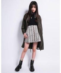 ZIDDY/【ニコプチ掲載】ベロア ロゴ ルーズ ソックス (19cm~24cm)/503411102