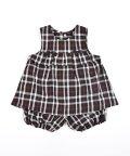 e-baby/チェック リボン フリル パンツ ワンピースセット (70cm-80cm)/503423759