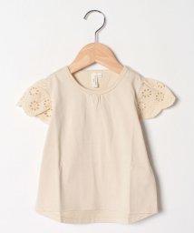 LAGOM/【lagom】袖レースTシャツ/503432050