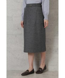 NATURAL BEAUTY BASIC/ウール混カルゼタイトスカート/503459435