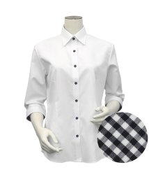 BRICKHOUSE/シャツ 七分袖 形態安定 レギュラー衿 透け防止 レディース ウィメンズ/503459884