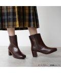 ALETTA/究極のレインブーツ スクエア ミドル丈 ブーツ 防水 6cmチャンキーヒール 雨天兼用 外反ぎみ・甲高幅広さんも履きやすい 痛くなりにくい 日本人向け足型靴 レ/503460143