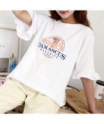 RM STORE/フリル袖ロゴTシャツ/503461040