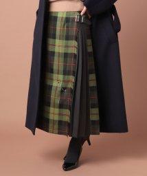 OLD ENGLAND/ONEILウールキルトロングスカート/503389499