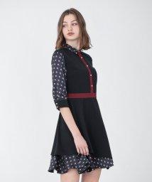 LOVELESS WOMEN/ジオメトリック コンビ ドレス/503404071