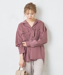 NICE CLAUP OUTLET/セットアップツイルCPOシャツ/503436240