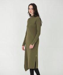 LOVELESS WOMEN/サイドZIP ニット ドレス/503404057