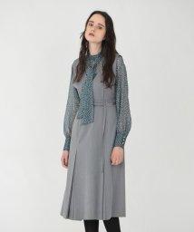 LOVELESS WOMEN/グレー Vネック ジャンパースカート/503404067