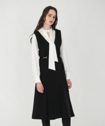 LOVELESS WOMEN/ブラック Vネック ジャンパースカート/503404068