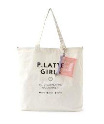 PINK-latte/ミニポーチ付きBIGトートバッグ/503467434