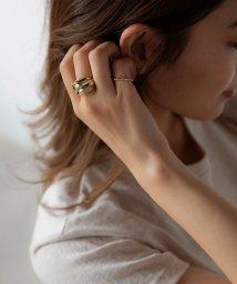 marjour/WIDE DENT RING SET/503469004