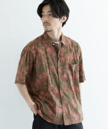 URBAN RESEARCH/MANUAL ALPHABET PRINT OPEN COLLAR SHIRTS/503470088