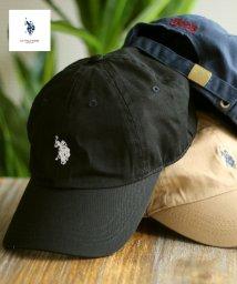 LAZAR/U.S. POLO ASSN./ユーエスポロアッスン ダブルホースマン刺繍 ローキャップ/503436768