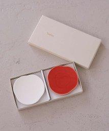 collex/【Teshio/テシオ】三つ雲 豆皿 2枚セット 紅白/503472187