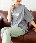 SILKY/両面ロゴ入オーバーTシャツ/PARIS/503472358