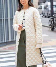 SHIPS any WOMENS/【別注】Traditional Weatherwear: ARKLEY LONG ノーカラーロングキルティングコート/503473121