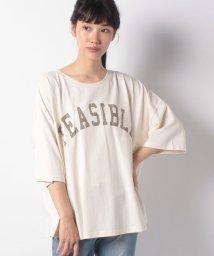 Samansa Mos2/【SM2】かすれロゴプリントTシャツ/503459902