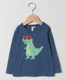 LAGOM/【lagom】サングラスワッペン付恐竜長袖Tシャツ/503460053