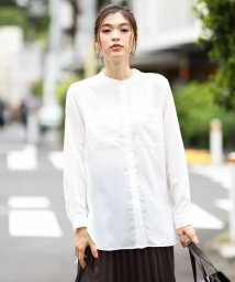 a.v.v/【洗える】バンドカラーポケットシャツ/503338967