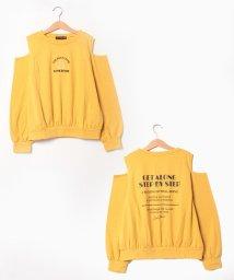 Lovetoxic/モチーフ刺しゅう肩開きTシャツ/503459671
