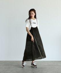 LASUD/[RADIATE] 【手洗い可】シルキーサテン サロペットスカート/503472529