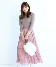 JUSGLITTY/【MAGASEEK/d fashion限定カラー】ティアードプリーツニットワンピース/503475499