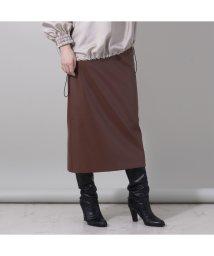 EUCLAID/フェイクレザータイトスカート/503476031