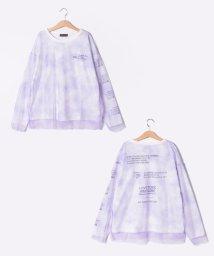 Lovetoxic/タイダイ柄チュール重ねTシャツ/503464610