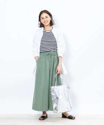 collex/【WEB限定】コットンストライプロングシャツ/503477897
