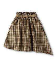branshes/ベルト付きチェック柄スカート/503481211