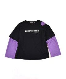 ZIDDY/重ね着風 肩開き Tシャツ (130cm~160cm)/503411100